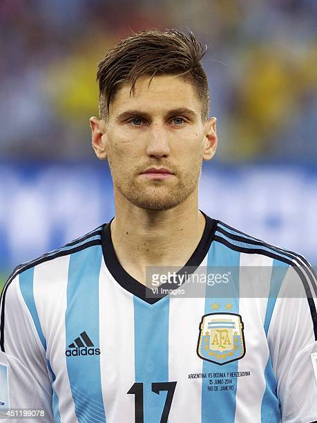 Frederico Fernandez of Argentina during the FIFA World Cup 2014 match between Argentina and Bosnia and Herzegovina on June 15 2014 at the Maracano in...