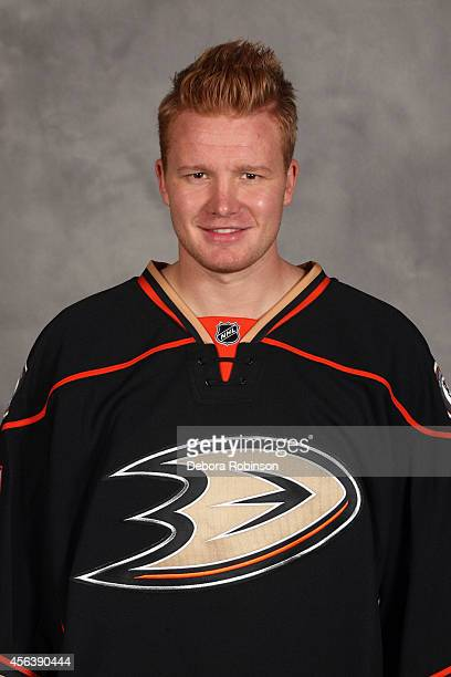 Frederik Andersen of the Anaheim Ducks poses for his official headshot for the 20142015 season on September 18 2014 at the Honda Center in Anaheim...