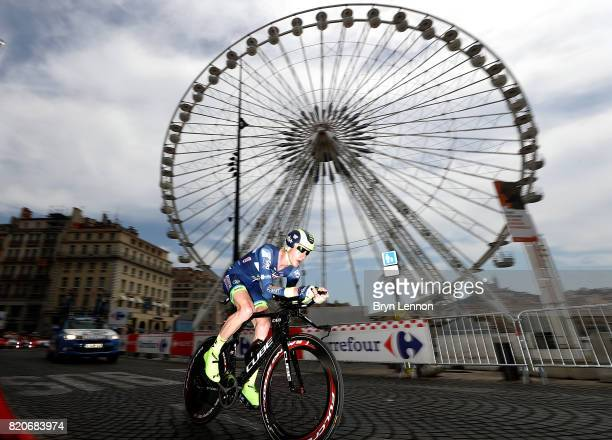 Frederik Backaert of Belgium and Wanty Groupe Gobert in action during stage twenty of Le Tour de France 2017 on July 22 2017 in Marseille France