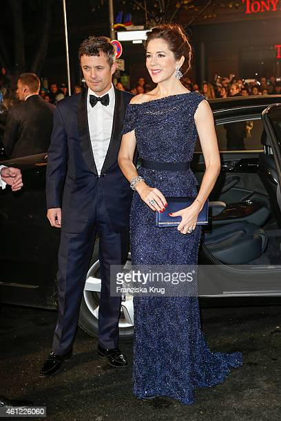 Frederik Crown Prince of Denmark and Mary Crown Princess of Denmark arrive at the Bambi Awards 2014 on November 13 2014 in Berlin Germany