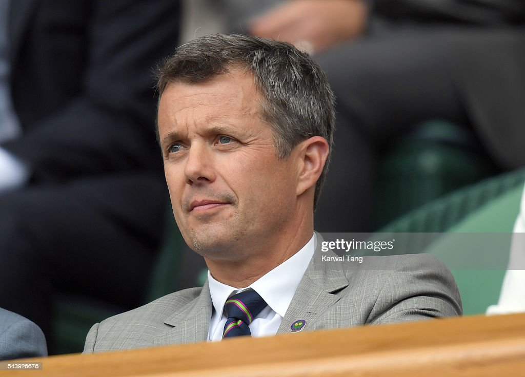 Frederik, Crown Prince of Denmark attends day four of the Wimbledon Tennis Championships at Wimbledon on June 30, 2016 in London, England.