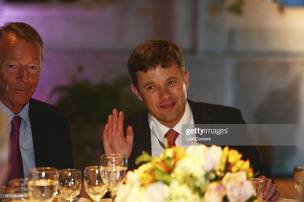 Frederik, Crown Prince of Denmark, during the gala dinner on the second day of the 15th IOC World Conference Sports For All at Casa García Alvarado on April 25, 2013 in Lima, Peru.