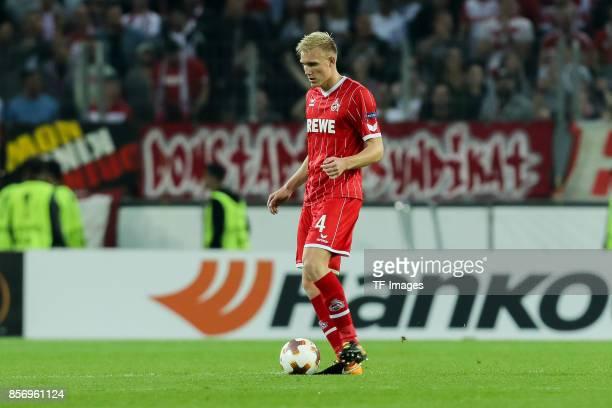Frederik Hillesborg Sorensen of Koeln controls the ball during the UEFA Europa League group H match between 1 FC Koeln and Crvena Zvezda at...
