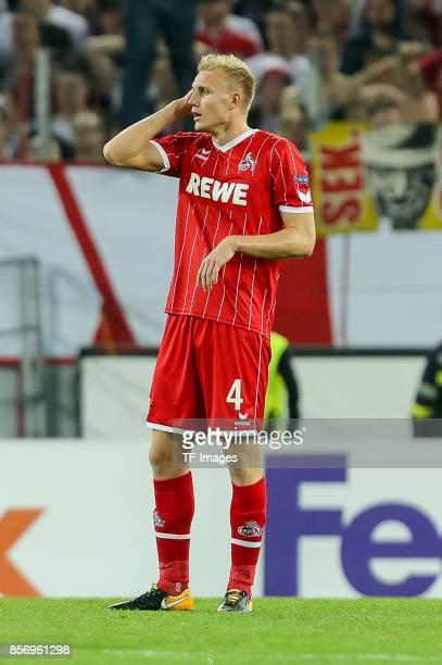 Frederik Hillesborg Sorensen of Koeln looks on during the UEFA Europa League group H match between 1 FC Koeln and Crvena Zvezda at...