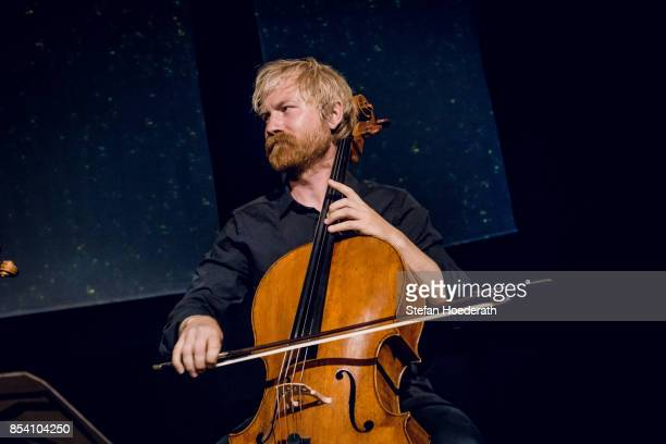 Frederik Sjoelin of Danish String Quartett performs live on stage during Yellow Lounge x Reeperbahn Festival organized by recording label Deutsche...