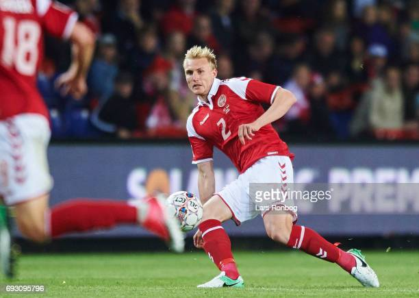 Frederik Sorensen of Denmark in action during the international friendly match between Denmark and Germany at Brondby Stadion on June 6 2017 in...