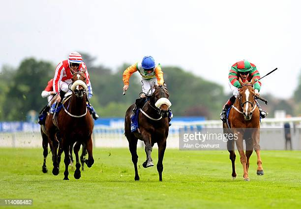 Frederik Tylicki riding Common Touch win The Download The Blue Square iphone App Stakes at York racecourse on May 11 2011 in York England