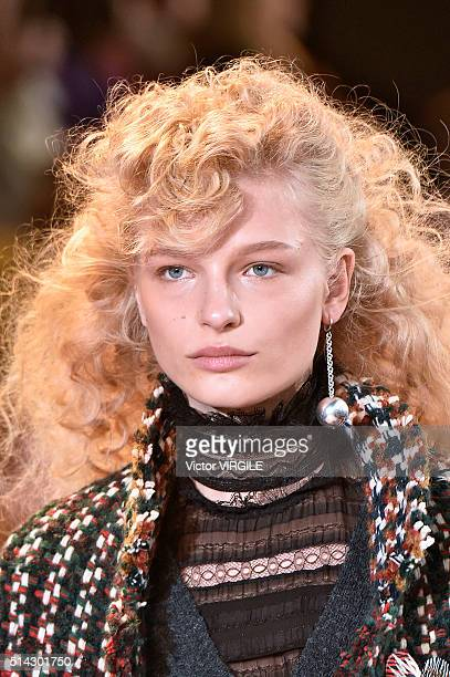 Frederikke Sofie walks the runway during the Isabel Marant fashion show as part of the Paris Fashion Week Womenswear Fall/Winter 2016/2017 on March 4...