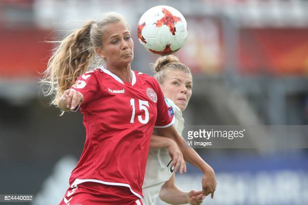 Frederikke Thogersen of Denmark women Linda Dallmann of Germany women during the UEFA WEURO 2017 quarter finale match between Germany and Denmark at...
