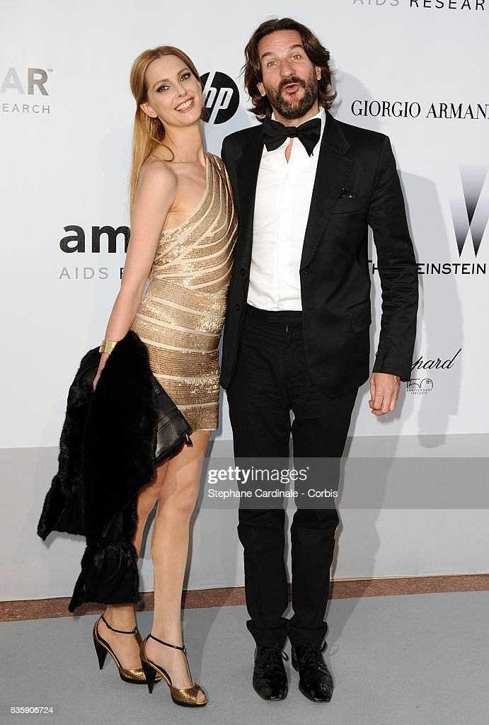 Frederique Bel and Frederic Beigdeber attend the '2010 amfAR's Cinema Against AIDS' Gala.