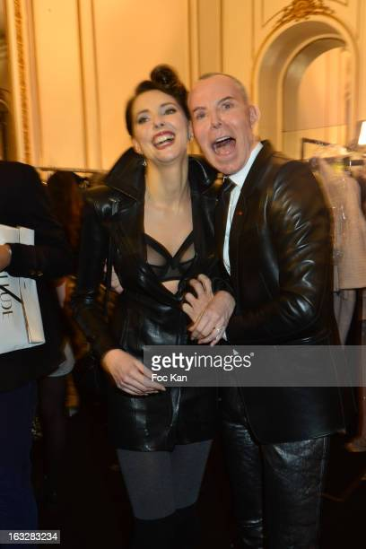 Frederique Bel and Jean Claude Jitrois attend the Jitrois Fall/Winter 2013 ReadytoWear show as part of Paris Fashion Week at Hotel Saint James Albany...