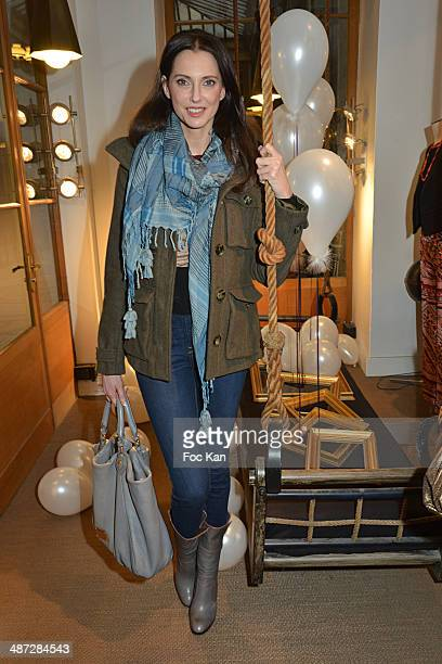 Frederique Bel attends 'Charriol' Ephemeral Boutique opening hosted by Nathalie Garcon at Galerie Vivienne on April 28 2014 in Paris France