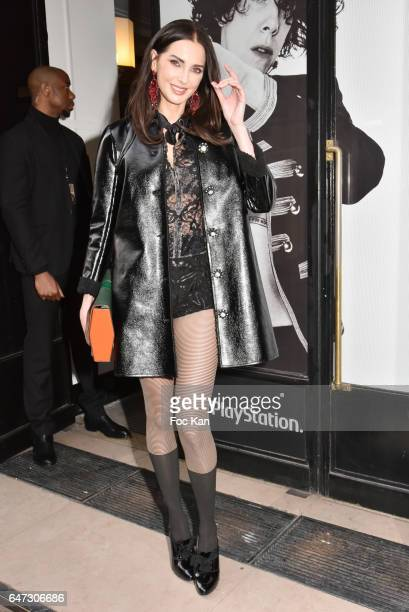 Frederique Bel attends the Alexis Mabille show as part of the Paris Fashion Week Womenswear Fall/Winter 2017/2018 on March 2 2017 in Paris France