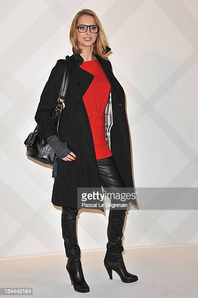 Frederique Bel attends the Burberry Paris Boutique Opening At British Embassy on December 1 2011 in Paris France