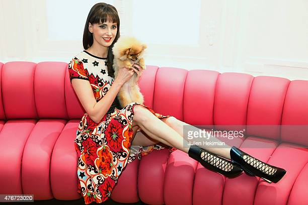 Frederique Bel attends the 'Malone Souliers' Cocktail at Le Bon Marche on June 11 2015 in Paris France
