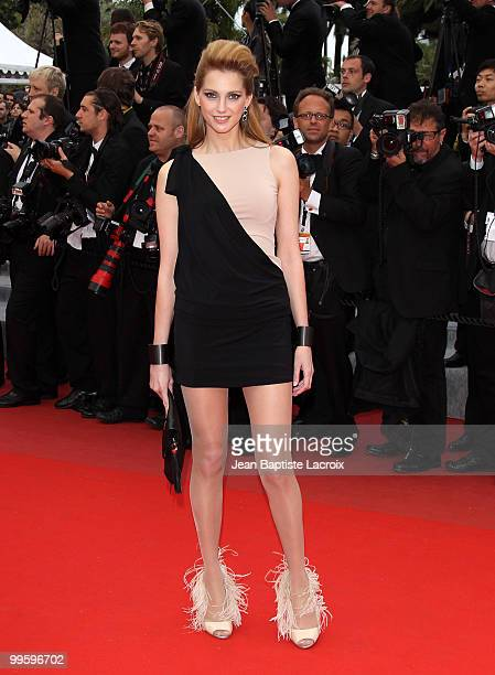Frederique Bel attends the 'You Will Meet A Tall Dark Stranger' Premiere held at the Palais des Festivals during the 63rd Annual International Cannes...