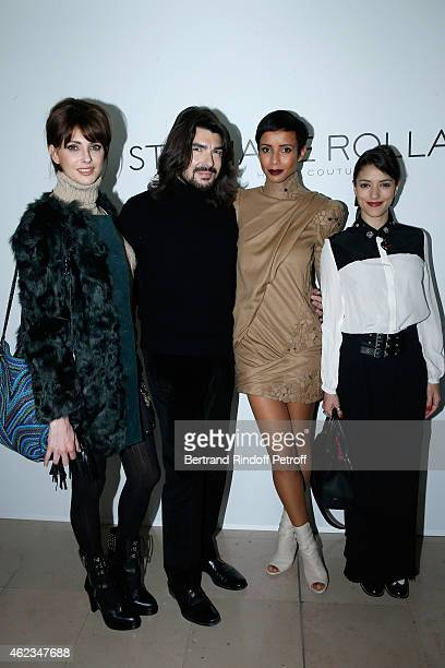 Frederique Bel Fashion designer Stephane Rolland Sonia Rolland and Vanessa Guide attends the Stephane Rolland show as part of Paris Fashion Week...