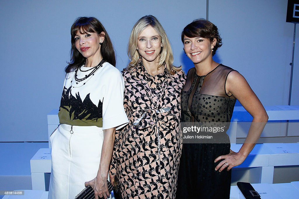 Frederique Lopez Lea Drucker and Emma de Caunes attend the Georges Hobeika show as part of Paris Fashion Week Haute Couture Fall/Winter 20142015 at...