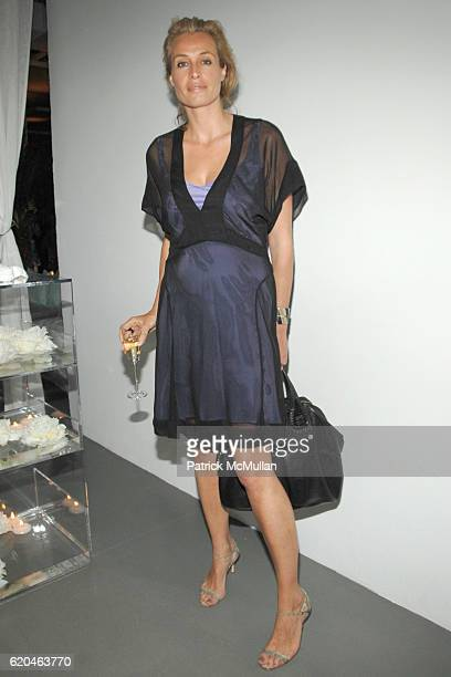 Frederique Van Der Wal attends LA MER and OCEANA Party for WORLD OCEAN DAY 2008 at 620 Loft Garden on June 4 2008 in New York City