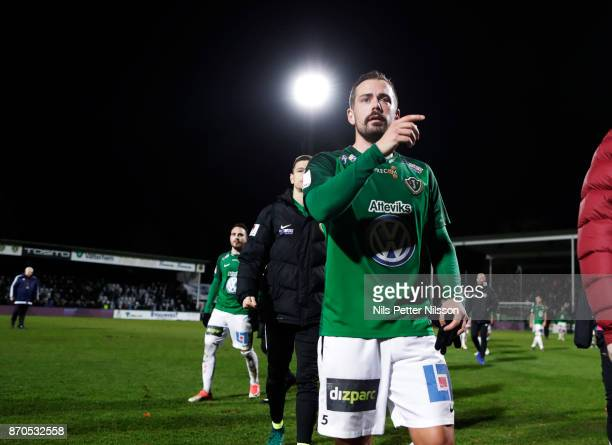 Fredric Fendrich of Jonkopings Sodra walks off the pitch after the Allsvenskan match between Jonkopings Sodra IF and Ostersunds FK at...