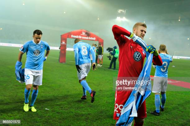 Fredrik Andersson of Malmo FF before the allsvenskan match between Malmo FF and AIK at Swedbank Stadion on October 23 2017 in Malmo Sweden