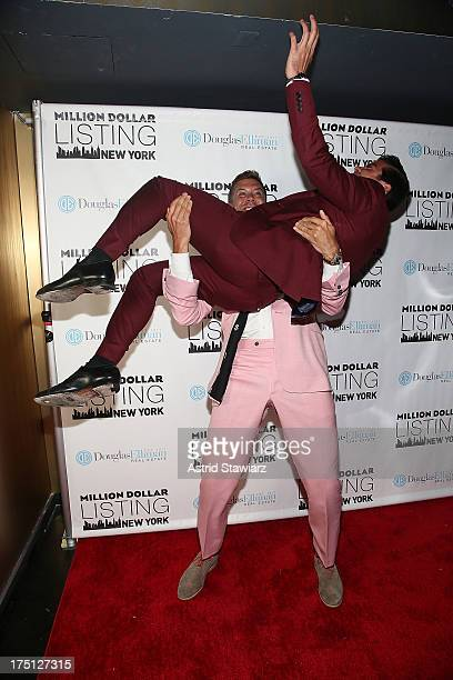 Fredrik Eklund and Luis D Ortiz attend 'Million Dollar Listing' Season 2 Finale Party at The General on July 31 2013 in New York City