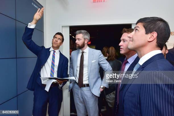 Fredrik Eklund and Ryan Serhant attend Fredrik Eklund and Lenny Kravitz Celebrate Launch of DHA Capital's 75 Kenmare at 584 Broadway on February 23...