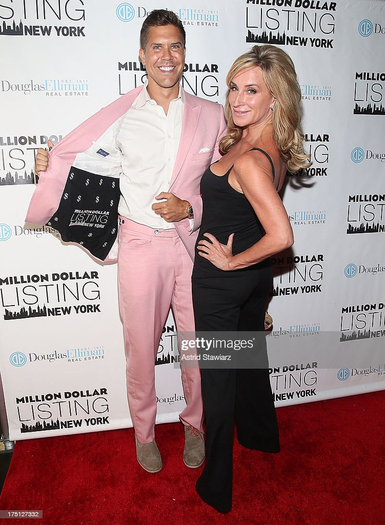 Fredrik Eklund and Sonja Morgan attend 'Million Dollar Listing' Season 2 Finale Party at The General on July 31 2013 in New York City