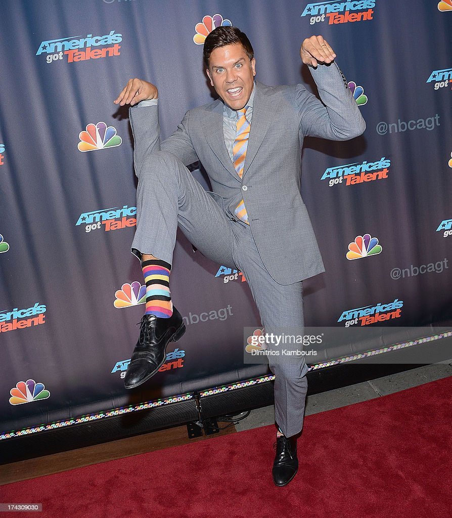 <a gi-track='captionPersonalityLinkClicked' href=/galleries/search?phrase=Fredrik+Eklund&family=editorial&specificpeople=9091185 ng-click='$event.stopPropagation()'>Fredrik Eklund</a> attends 'Americas Got Talent' Season 8 Pre-Show Red Carpet Event on July 23, 2013 in New York, United States.