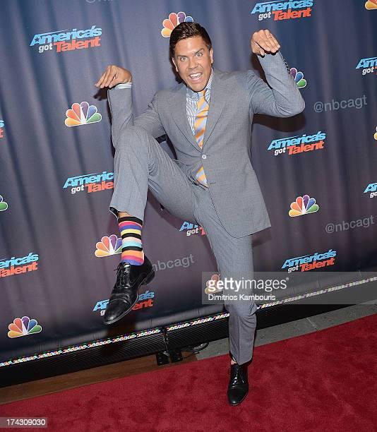 Fredrik Eklund attends 'Americas Got Talent' Season 8 PreShow Red Carpet Event on July 23 2013 in New York United States