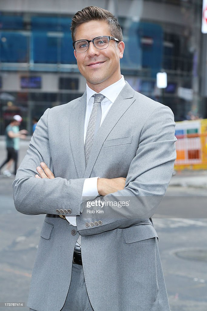 Fredrik Eklund, cast member of Bravo's 'Million Dollar Listing' rings closing bell at NASDAQ MarketSite on July 17, 2013 in New York City.
