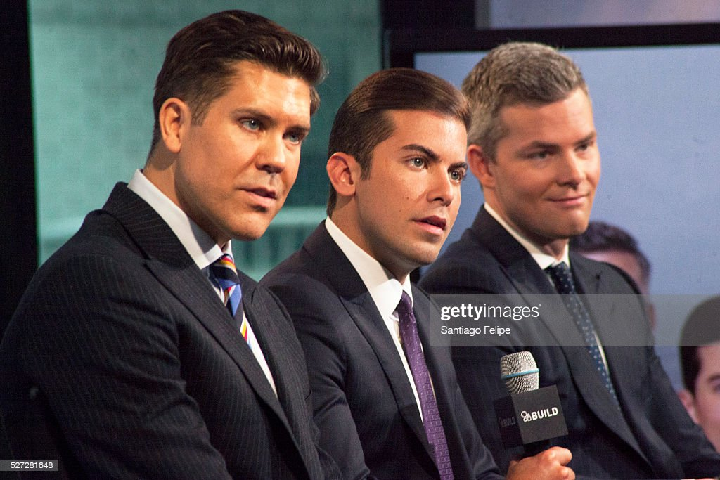 Fredrik Eklund, Luis D. Ortiz and Ryan Serhant attend AOL Build Presents: 'Million Dollar Listing New York' at AOL Studios In New York on May 2, 2016 in New York City.