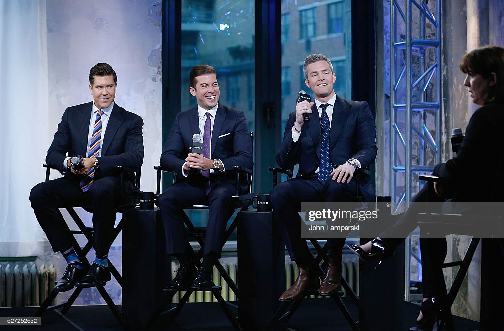 Fredrik Eklund Ryan Serhant and Luis D Ortiz of 'Million Dollar Listing New York' attend AOL Build Speaker Series at AOL Studios In New York on May 2...