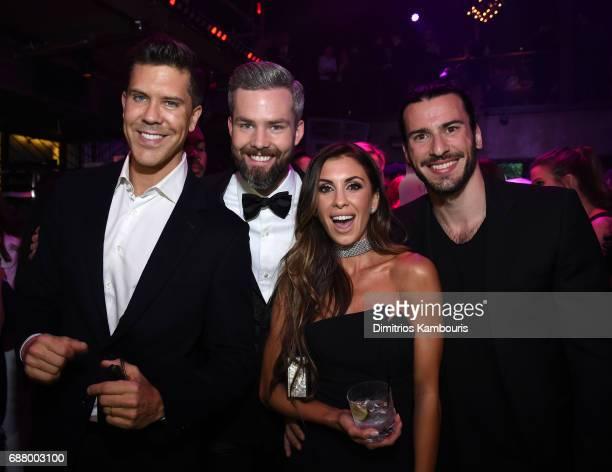 Fredrik Eklund Ryan Serhant Emilia Bechrakis and Steve Gold attend the Million Dollar Listing New York Season 6 Premiere Party at Marquee on May 24...