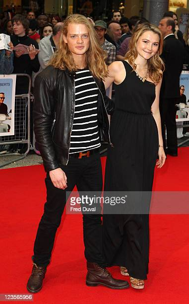 Fredrik Ferrier and Amber Atherton attend the UK premiere of 'Larry Crowne' at Vue Westfield on June 6 2011 in London England