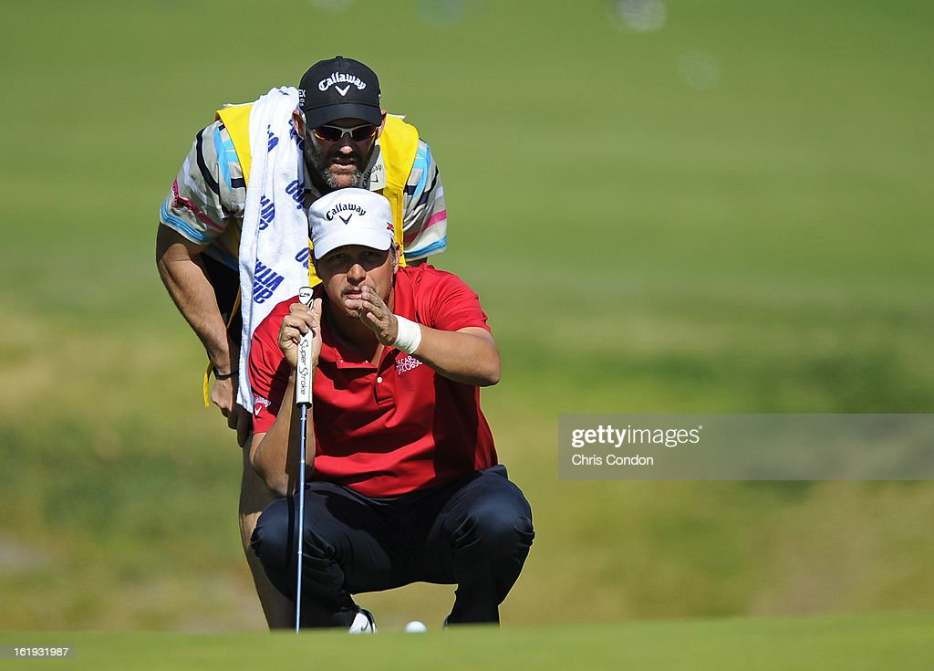 <a gi-track='captionPersonalityLinkClicked' href=/galleries/search?phrase=Fredrik+Jacobson&family=editorial&specificpeople=210560 ng-click='$event.stopPropagation()'>Fredrik Jacobson</a> on the 12th hole during the final round of the Northern Trust Open at Riviera Country Club on February 17, 2013 in Pacific Palisades, California.