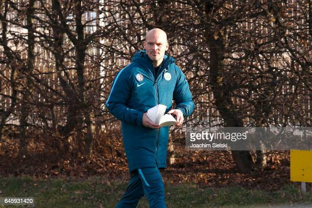 Fredrik Ljungberg attends Training of VfL Wolfsburg with the new Head Coach Andries Jonker at Volkswagen Center on February 27 2017 in Wolfsburg...
