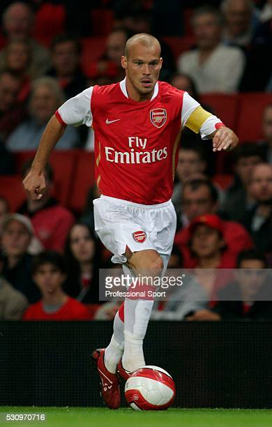 Fredrik Ljungberg of Arsenal FC in action against Dinamo Zagreb at Emirates Stadium in London on 23rd August 2006 Arsenal won 21