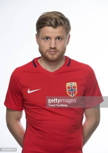 Fredrik Midtsjoe of Norway National Team during Photocall at Ullevaal Stadion on June 5 2017 in Oslo Norway