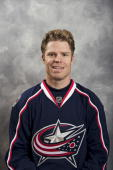 Fredrik Modin of the Columbus Blue Jackets poses for his official headshot for the 20092010 NHL season
