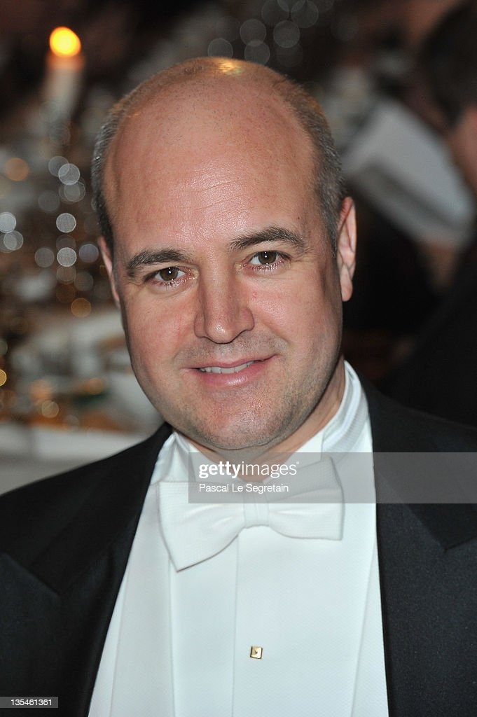 Fredrik Reinfeldt attends the Nobel Banquet at the City Hall on December 10, 2011 in Stockholm, Sweden.