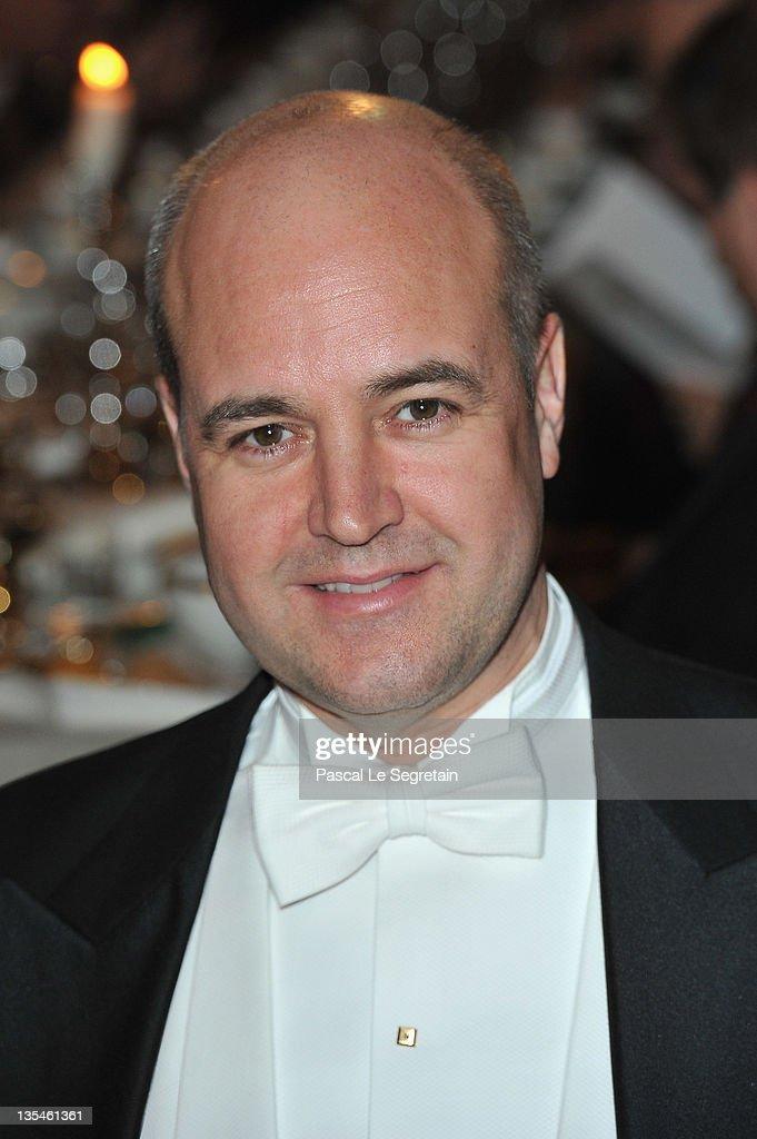Fredrik Reinfeldt attends the Nobel Banquet at the City Hall on December 10 2011 in Stockholm Sweden