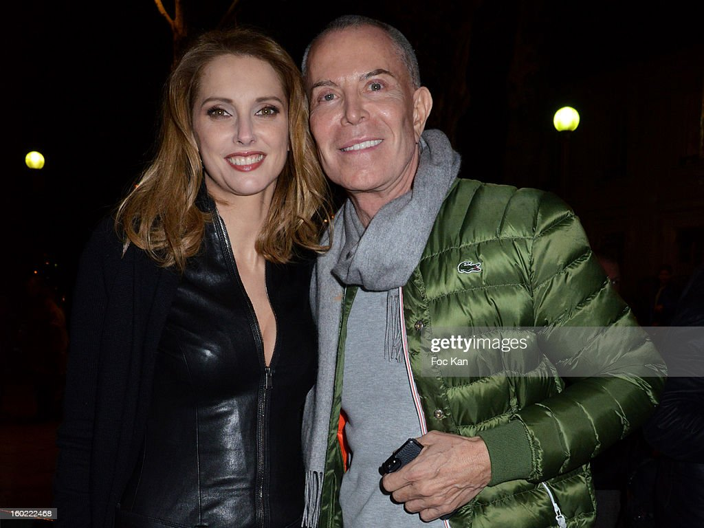 Fredrique BelÊand Jean Claude Jitrois attend 'Mariage Pour Tous' at Theatre du Rond-Point on January 27, 2013 in Paris, France.