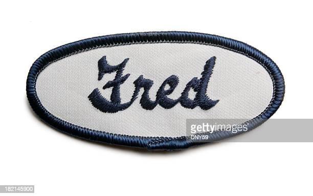 Fred's Namensschild