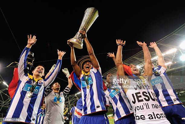 Fredy Guarin and Radamel Falcao Garcia of FC Porto celebrate victory during the UEFA Europa League Final between FC Porto and SC Braga at Dublin...