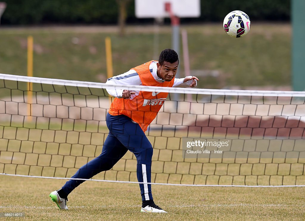 Fredy Guarin during FC Internazionale training session at the club's training ground at Appiano Gentile on March 04, 2015 in Como, Italy.