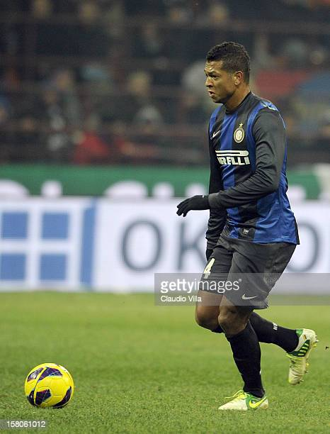 Fredy Guarin of FC Inter in action during of the Serie A match between FC Internazionale Milano and SSC Napoli at San Siro Stadium on December 9 2012...