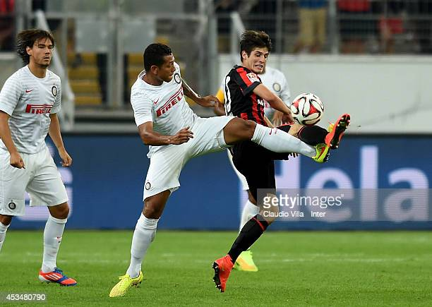 Inter Vs Eintracht Frankfurt Gallery: Lucas Piazon Stock Photos And Pictures