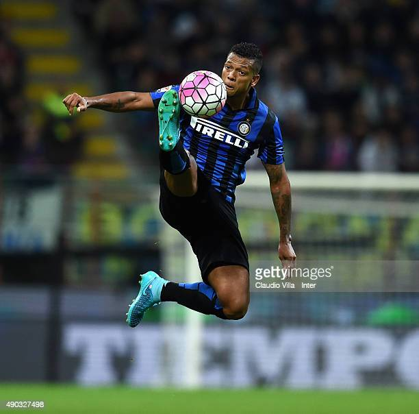 Fredy Guarin of FC Internazionale in action during the Serie A match between FC Internazionale Milano and ACF Fiorentina at Stadio Giuseppe Meazza on...