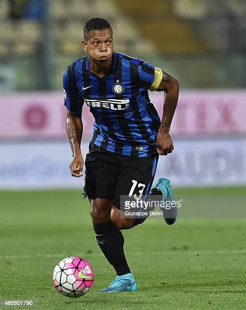 Fredy Guarin of FC Internazionale Milano in action during the Serie A match between Carpi FC and FC Internazionale Milano at Alberto Braglia Stadium...